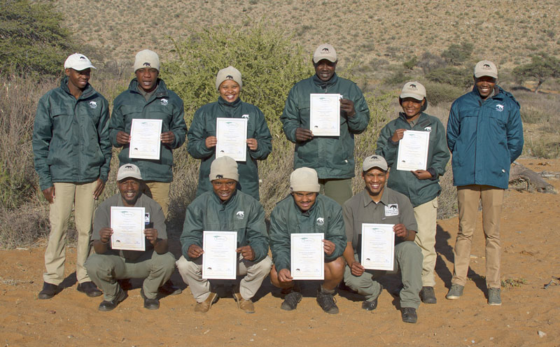 Tracker Academy students at Tswalu Game Reserve